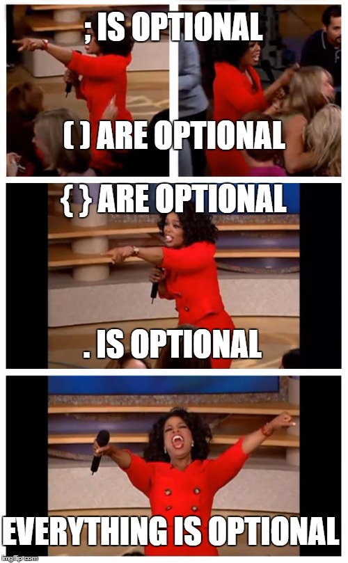 Everything is optional